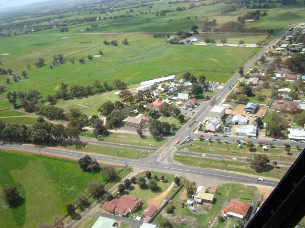 Dardanup Catholic Parish from the air